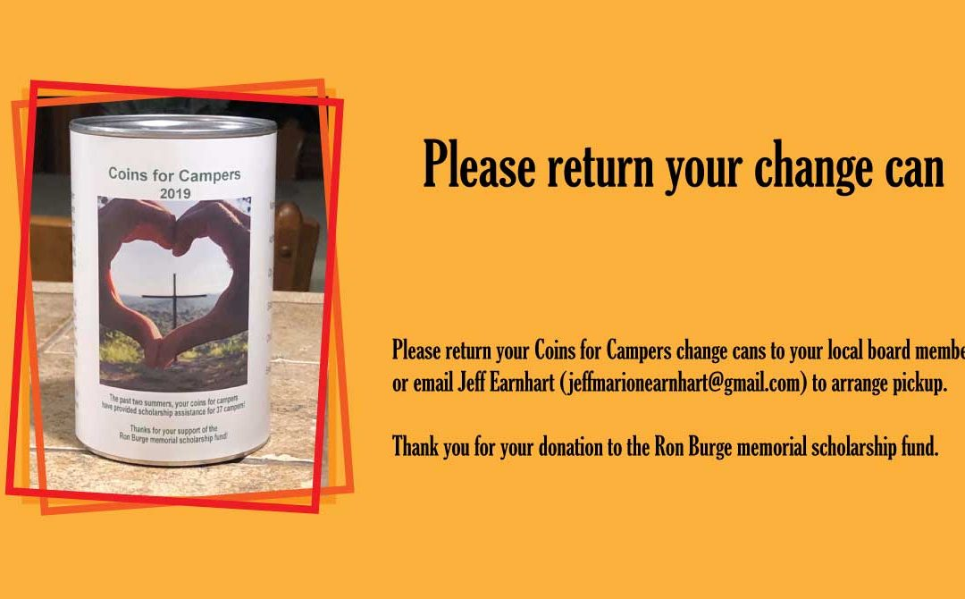 Please return Coins for Camp Can